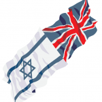 Anglo Israel flags